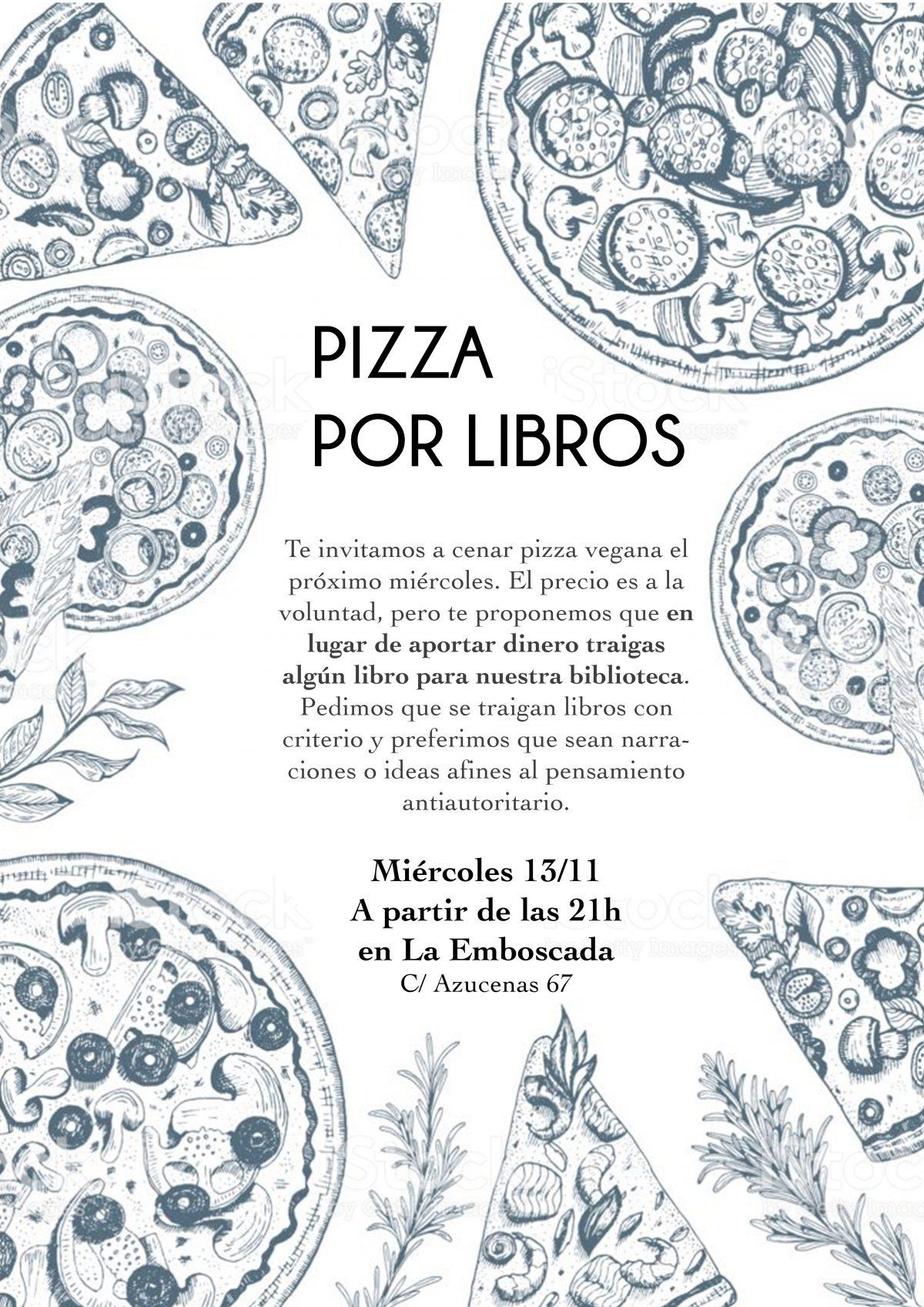 Pizza por libros