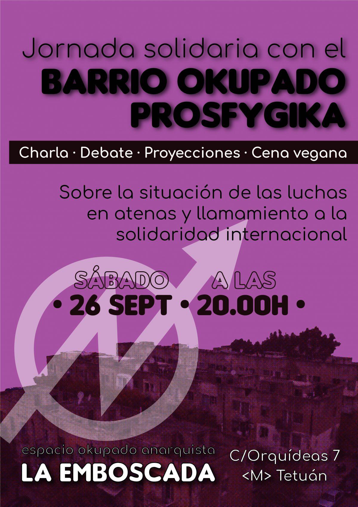 Jornada solidaria con el barrio okupado de Prosfygika